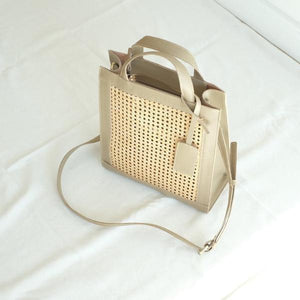 VERA Sia Solihaya Tote in Taupe Leather