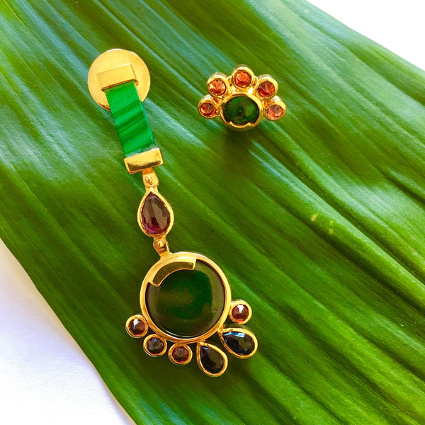 Balam Landa Malachite Earrings