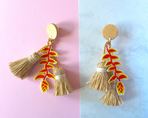 VERA Bird of Paradise Earrings in Red