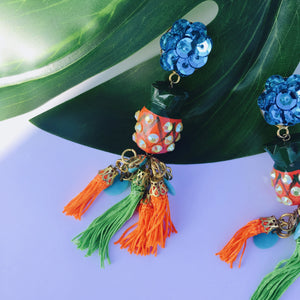 VERA Cheequita Red Pineapple Earrings