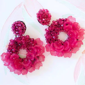 VERA Dancing Lady Earrings in Fuchsia