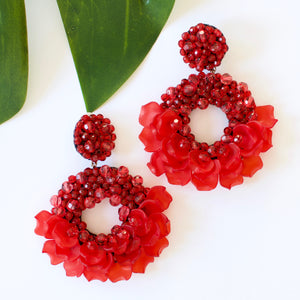 VERA Dancing Lady Earrings in Red