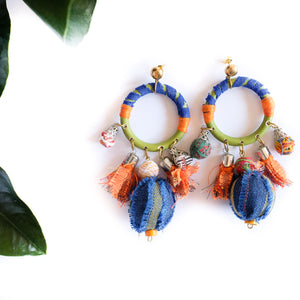 VERA Diwang Earrings in Orange