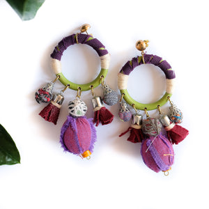 VERA Diwang Earrings in Purple