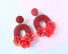 VERA Florabelle Earrings in Cherry