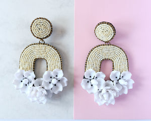 VERA Florabelle Earrings in Sand