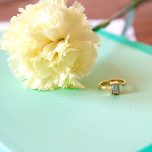 VERA Generosity Ring in Aquamarine