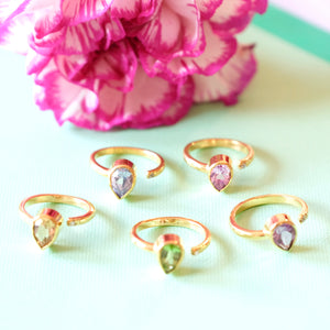 VERA Generosity Rings - Open Band Drop Shape