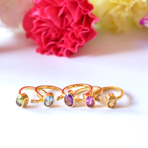VERA Generosity Rings - Open Band Oval Shape