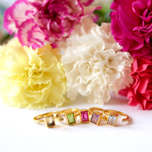VERA Generosity Rings - Open Band Emerald Cut
