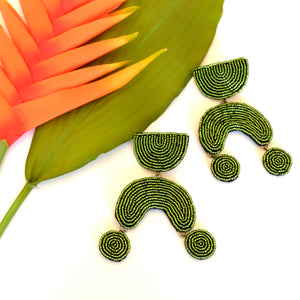 VERA Kim Earrings in Apple Green