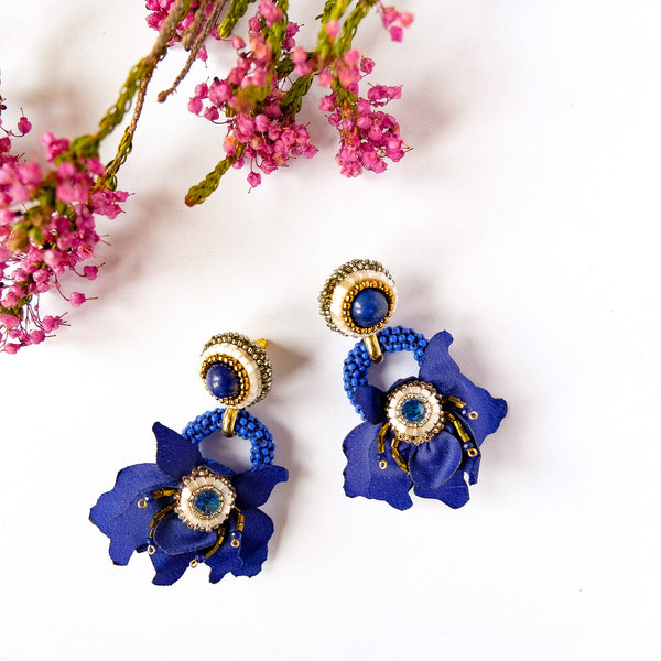 VERA L'Orchidee Halo in Cobalt Blue
