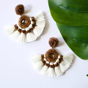 VERA Misokyklo Earrings in White