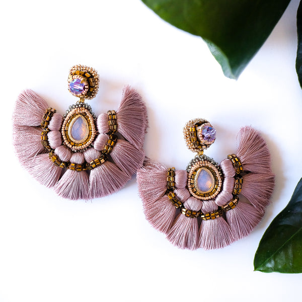 VERA Misokyklo Fan Earrings in Lilac