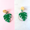 VERA Monstera Earrings