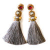 Paloma Double Stone Tassel Earrings