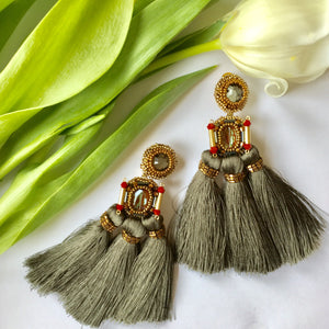 VERA Paloma Trio Silk Tassel Earrings
