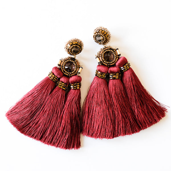 VERA Paloma Trio Tassel Earrings
