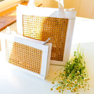 VERA Sia Solihaya Tote in White Leather