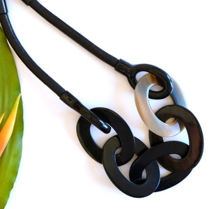 VERA Link Leather Necklace