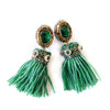 VERA Smeralda Beaded Tassel Earrings