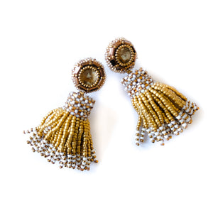 VERA Vanessa Beaded Tassel Earrings