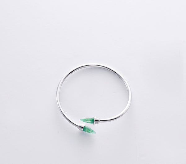 Piek Bangle in Rhodium