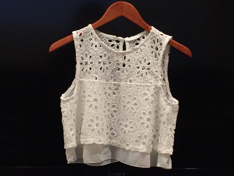Baby-Doll Lacey-Crochet Crop Top - Magnolia Tomboy - 1