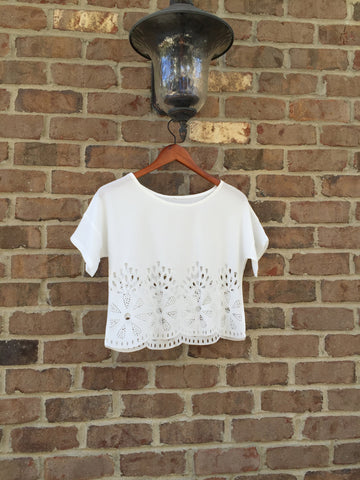 Pretty Cut Out Crop Top - Magnolia Tomboy - 1
