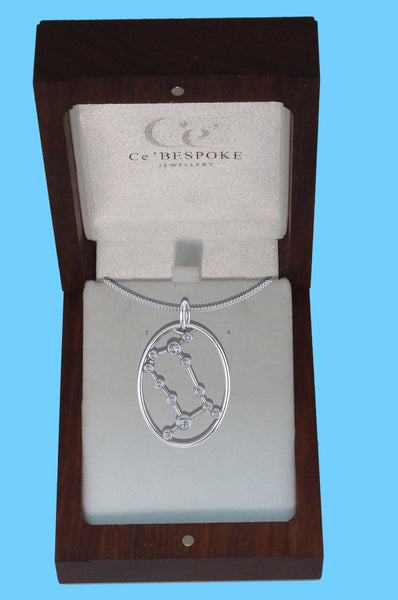 GEMINI - Zodiac Diamond Necklace in 18ct Gold or Platinum