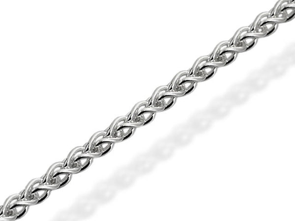 18ct Gold 1mm Spiga Style Chain