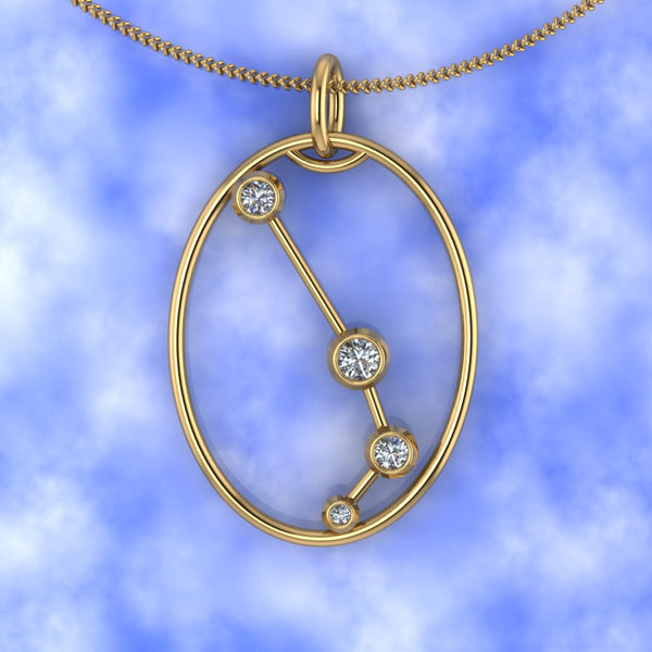 ARIES - Zodiac Diamond Necklace in 18ct Gold or Platinum
