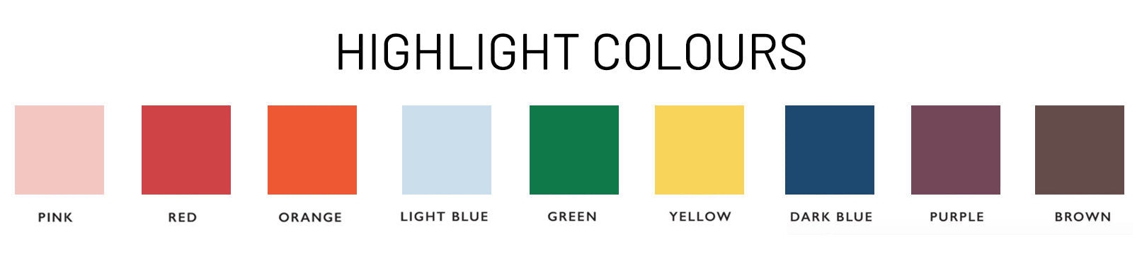 highlight colours for wardrobe