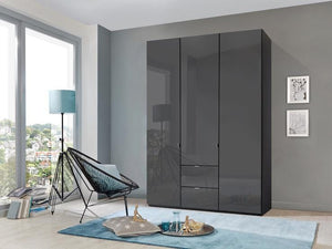 instrument Ipanema hinged wardrobe with drawers 150cm [Havana finish] - INSTRUMENT FURNITURE
