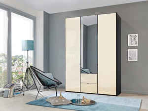 instrument Ipanema hinged wardrobe with drawers 150cm [Magnolia] - INSTRUMENT FURNITURE