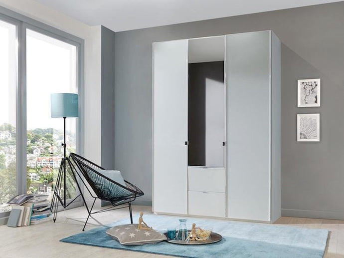 instrument Ipanema hinged wardrobe with drawers 150cm [White] - INSTRUMENT FURNITURE