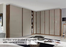 instrument Bronx hinged wardrobe 226cm with drawers [Fango Glass] - INSTRUMENT FURNITURE