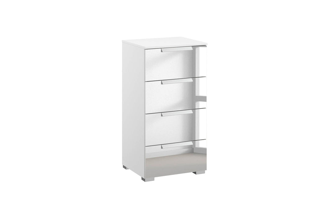 instrument TATE chest of drawers 40cm [Crystal White Glass] - INSTRUMENT FURNITURE