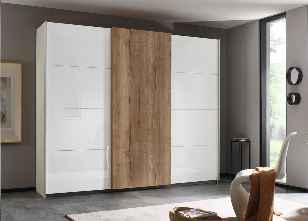 instrument Helix sliding wardrobe 271cm [Glass White] - INSTRUMENT FURNITURE