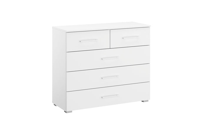instrument Helix chest of 5 drawers 94cm [Matt Alpine White] - INSTRUMENT FURNITURE