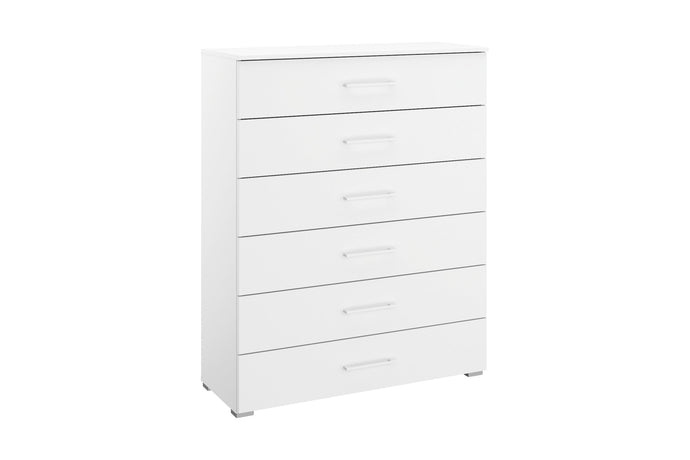 instrument Helix chest of 6 drawers 94cm [Matt Alpine White] - INSTRUMENT FURNITURE