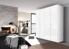 instrument Tate-3 hinged wardrobe 201cm [Glass Crystal White] - INSTRUMENT FURNITURE