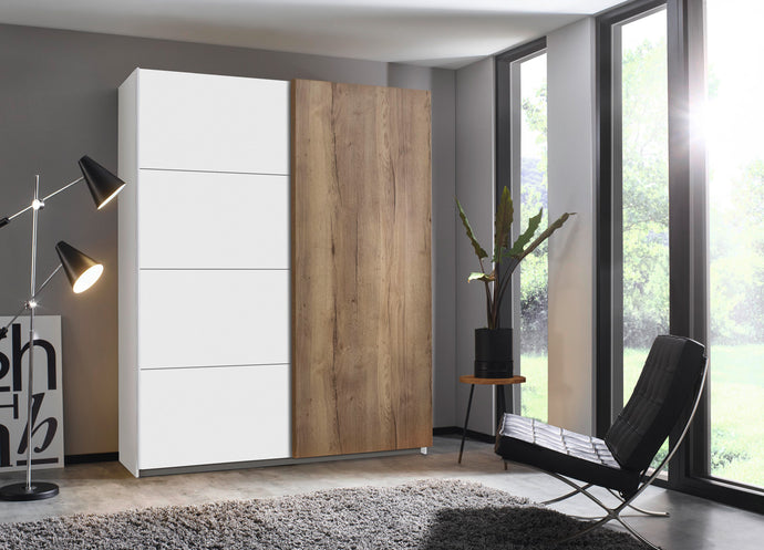 instrument Helix sliding wardrobe 181cm [Matt Alpine White] - INSTRUMENT FURNITURE