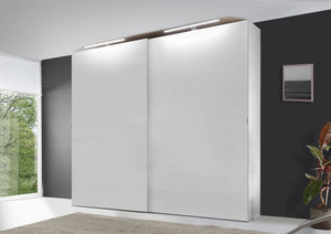 instrument VIGO sliding wardrobe 188cm [Alpine White Glass] - INSTRUMENT FURNITURE