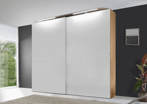 instrument VIGO sliding wardrobe 200cm [Alpine White Glass] - INSTRUMENT FURNITURE