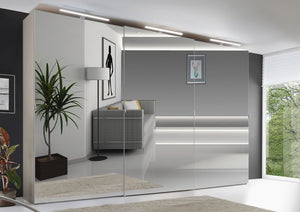 instrument VIGO sliding wardrobe 280cm [Volcano Glass] - INSTRUMENT FURNITURE