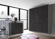 instrument ZARA-2 bi folding wardrobe 204cm [Basalt Glass] - INSTRUMENT FURNITURE