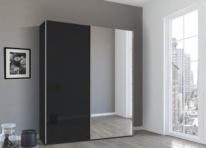 instrument Bronx sliding wardrobe 181cm [Basalt Glass] - INSTRUMENT FURNITURE