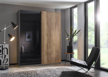 instrument Helix sliding wardrobe 181cm [Glass Basalt] - INSTRUMENT FURNITURE