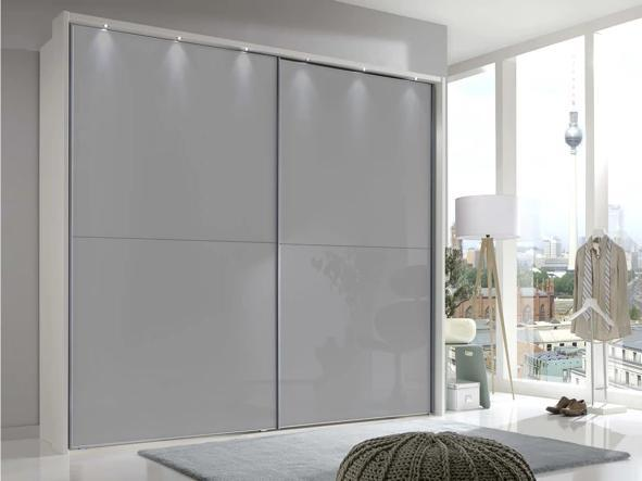 instrument Maestro sliding mirror wardrobe 200cm [Pebble Grey] - INSTRUMENT FURNITURE